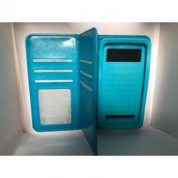 """Universal Mobile Case Book S View 5.0""""-5.3"""" Blue"""