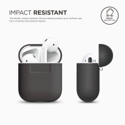 Apple Airpods Silicone Case Grey