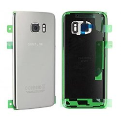 Samsung Galaxy S7 G930 Battery Cover With Camera Lens Silver