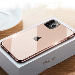 IPhone 11 Luxury Electroplated Cases Tempered Glass RoseGold