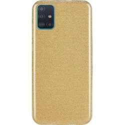 Samsung Galaxy A71 A715 Back Glitter Case Gold