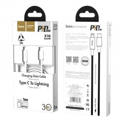 Hoco X36 Swift PD Charging Data Cable For Lightning White