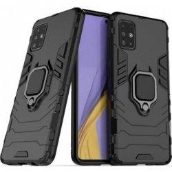 Samsung Galaxy A51 A515 Finger Ring Kickstand Armor Black