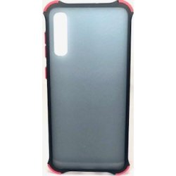 Samsung Galaxy A50 A505/A30S Case Anti-Fall Transparent Matte Protective Back Cover Black-Red
