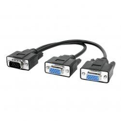 VGA 15Pin HD Male To 2xFemale Splitter