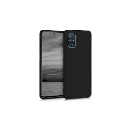 Samsung Galaxy A71 A715 Silicone Case Black