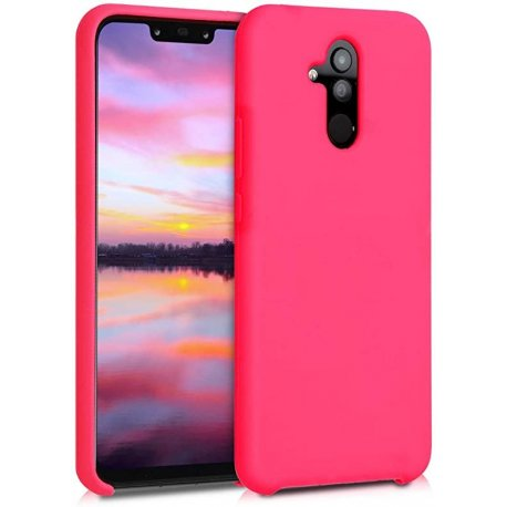 Huawei Mate 20 Lite Silky And Soft Touch Finish Silicone Case Pink