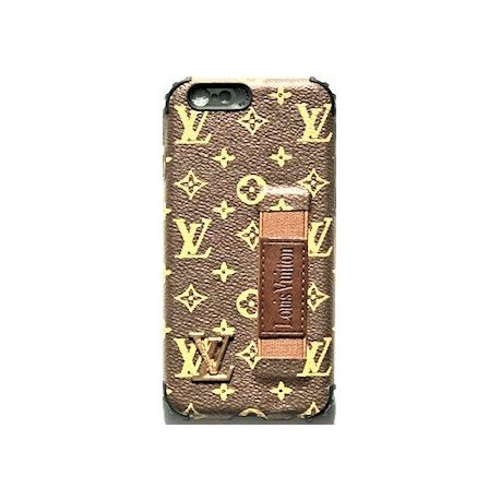 IPhone 6/6S LV Silicone Case KickStand Brown