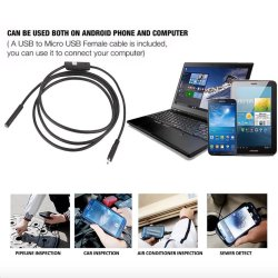 MBaccess Waterproof LED Mini Endoscope 5M Cable Camera