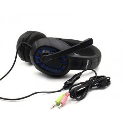 KOMC C501 Gaming PC Headphone Black-Blue