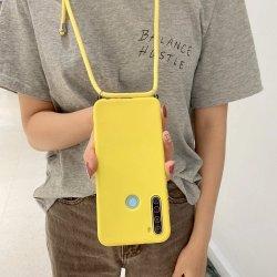 Xiaomi Redmi Note 9S/Pro Silicone Case Strap Necklace Yellow
