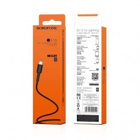 Borofone Easy BX16 Micro Usb Cable 1m Black
