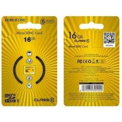 Borofone MicroSD 16GB Class 10 High Speed Memory Card