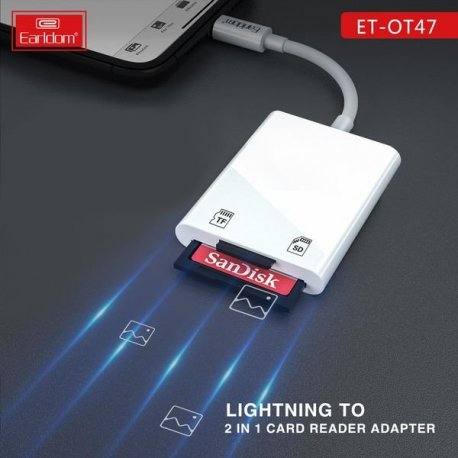 Earldom Lighting To 2 In 1 Card Reader Adapter