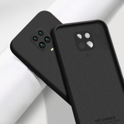 Xiaomi Redmi Note 9S/Pro Silky And Soft Touch Silicone Cover Full Camera Protection Black
