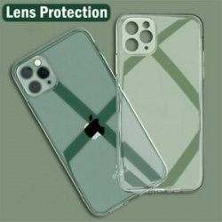 IPhone 11 Pro Max Silicone Case Full Camera Protection Transperant