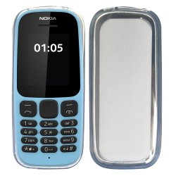 Nokia 105 Silicone Case Transparent