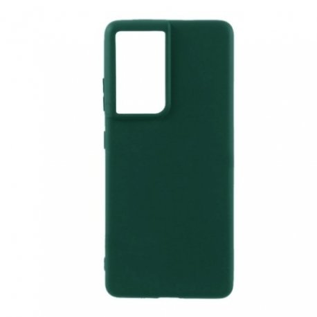 Samsung Galaxy S21 G991 Silky And Soft Touch Silicone Cover Green