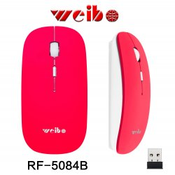 Weibo RF-5084 2.4G Wireless Optical Mouse 10M Red
