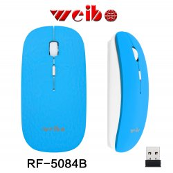 Weibo Rf-2812 Computer Wireless Mouse Blue