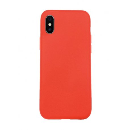 IPhone X/XS Silky And Soft Touch Finish Silicone Case Red