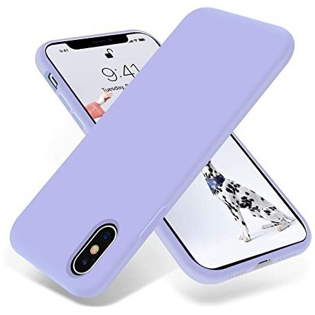 IPhone X/XS Silky And Soft Touch Finish Silicone Case Lila