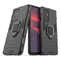 OnePlus 9 Pro Finger Ring Kickstand Armor Black