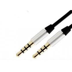 MBaccess Aux Cable 3.5mm To 3.5mm Jack 1m Black