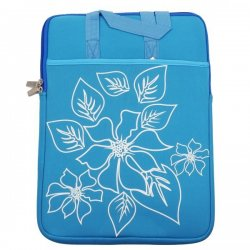 """MBaccess Laptop Bag Flower 15,6"""" Blue"""