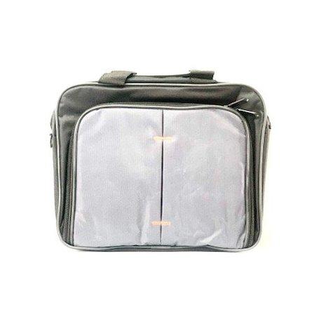 """MBaccess Nylon Topload Laptop Bag With Shoulder Strap 12"""" Black"""