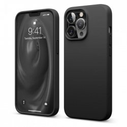 IPhone 13 Pro Max Silky And Soft Touch Finish Silicone Case Black