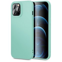 IPhone 13 Pro Max Silky And Soft Touch Finish Silicone Case Mint
