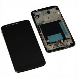 LG G2 Lcd+Touch Screen+Frame Black
