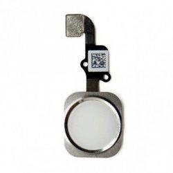 Κορδέλα κουμπί μενού καλώδιο iPhone 6 Plus 5.5 + PVC / Λευκό